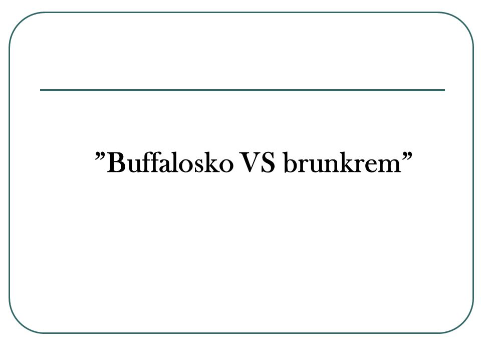 Buffalosko VS brunkrem