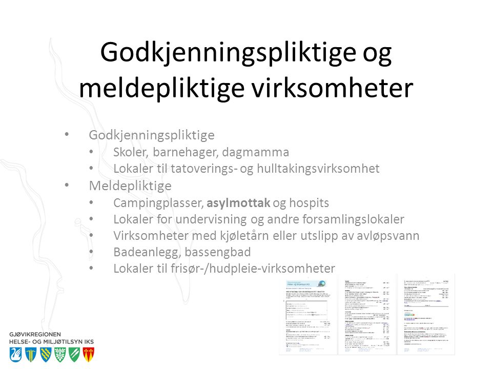 Erfaringer fra tilsyn (smitte) Forebygge smittsomme sykdommer Overflater som er vanskelige å rengjøre (eks.