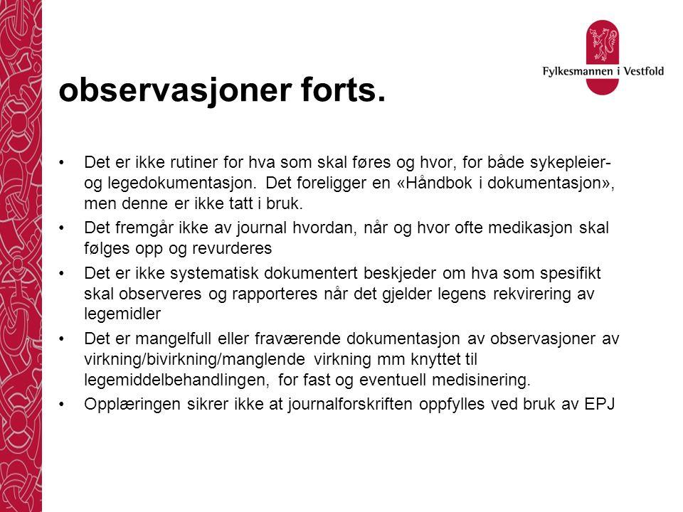 observasjoner, forts.