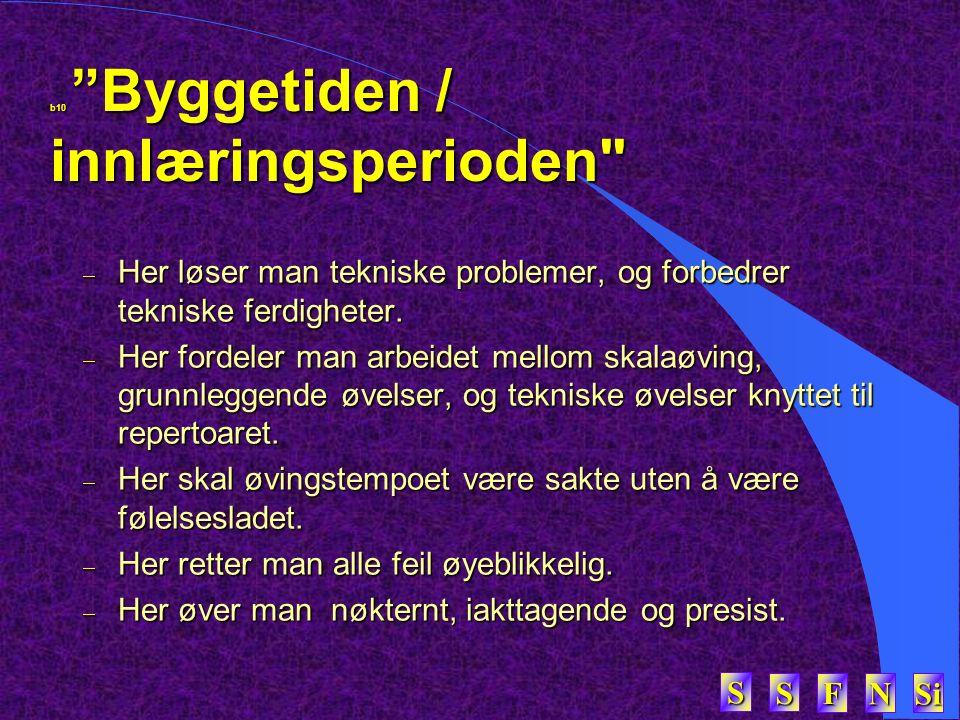 """SSSS FFFF NNNN Si SSSS b10 """"Byggetiden / innlæringsperioden"""