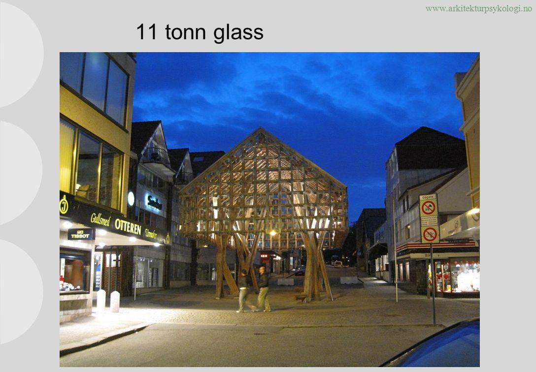 www.arkitekturpsykologi.no 11 tonn glass Copyright © rom 2010. Alle rettigheter