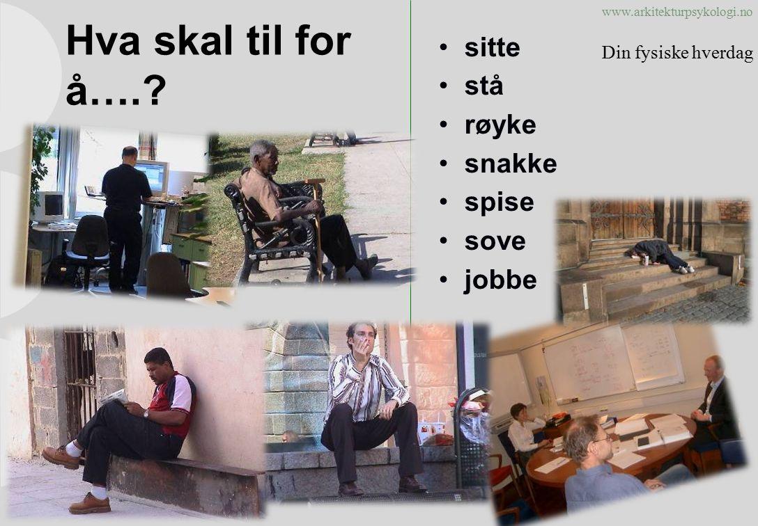 www.arkitekturpsykologi.no Hva skal til for å…..