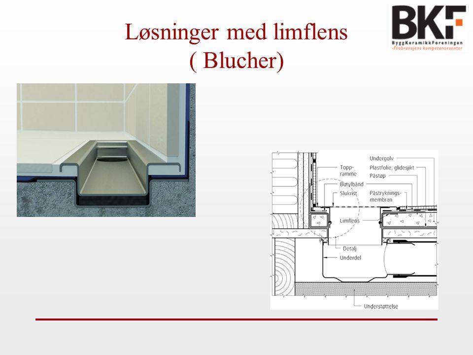 Løsninger med limflens ( Blucher)