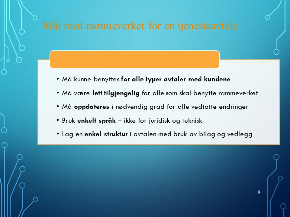 20 Suksesskriterier for levering i hht.
