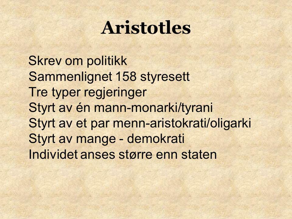 Aristotles Utviklet regler for logikk Slutning Alle trær trenger lys.