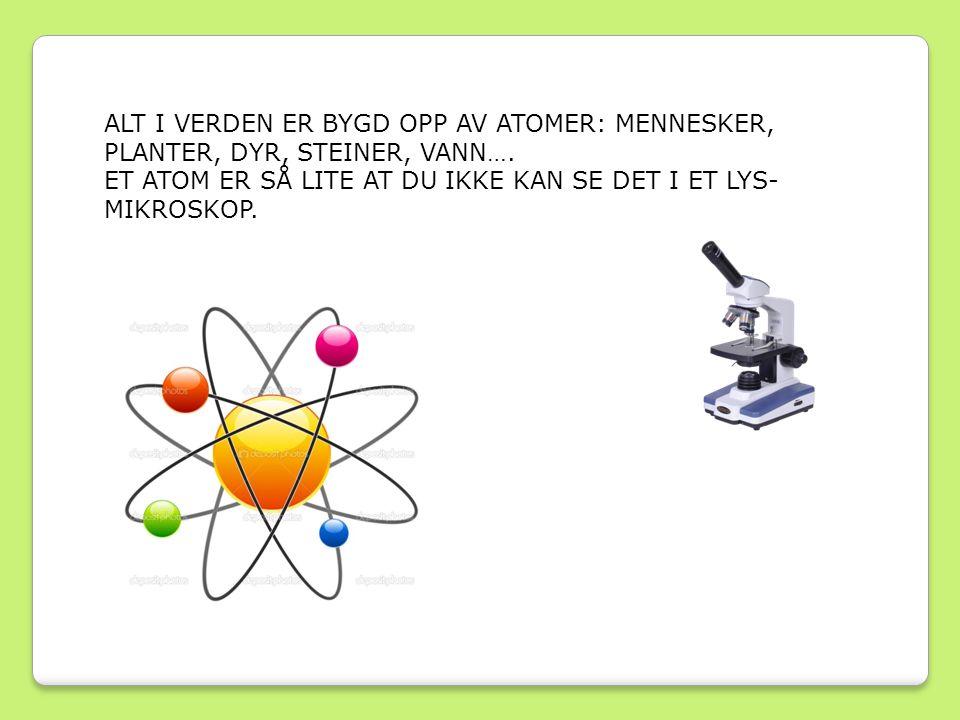 Det finnes nesten 100 forskjellige typer atomer i naturen, men mennesker har også klart å lage noen typer.