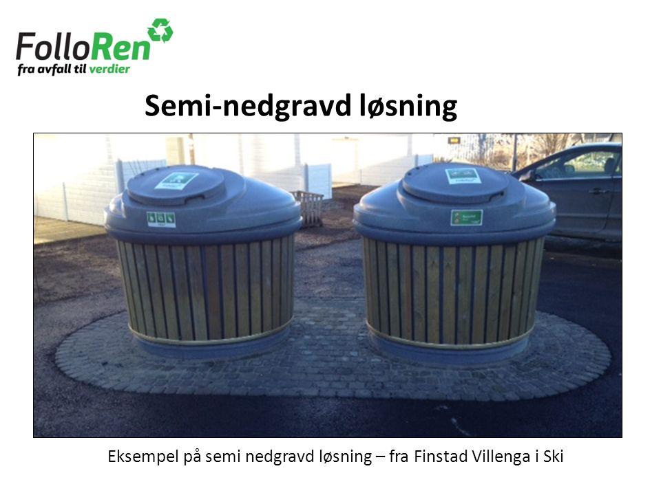 Eksempel på semi nedgravd løsning – fra Finstad Villenga i Ski Semi-nedgravd løsning