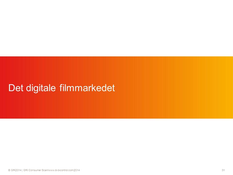 © GfK2014 | GfK Consumer Scan/www.dvd-control.com|2014 31 Det digitale filmmarkedet