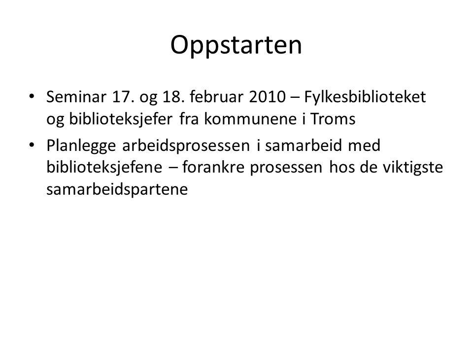 Oppstarten Seminar 17. og 18.