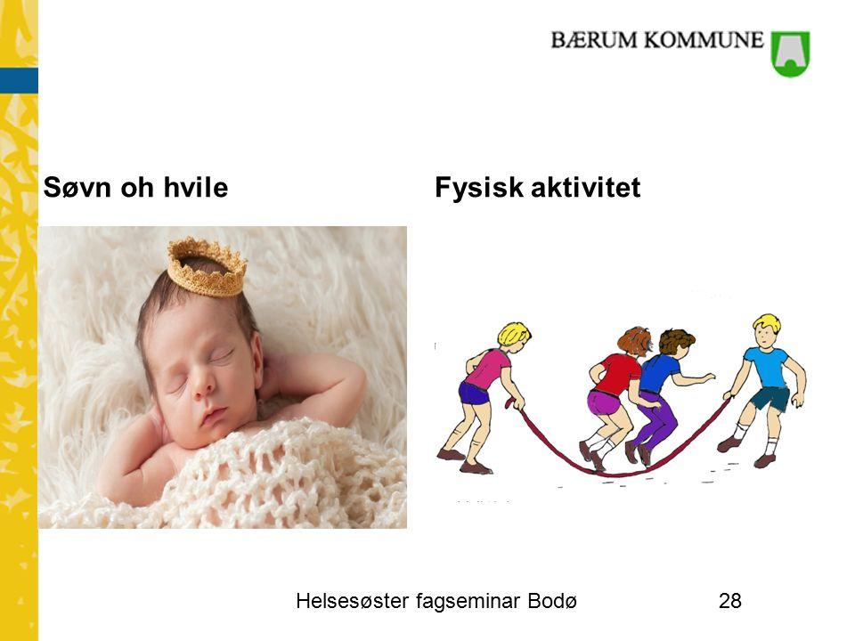 Søvn oh hvileFysisk aktivitet Helsesøster fagseminar Bodø28