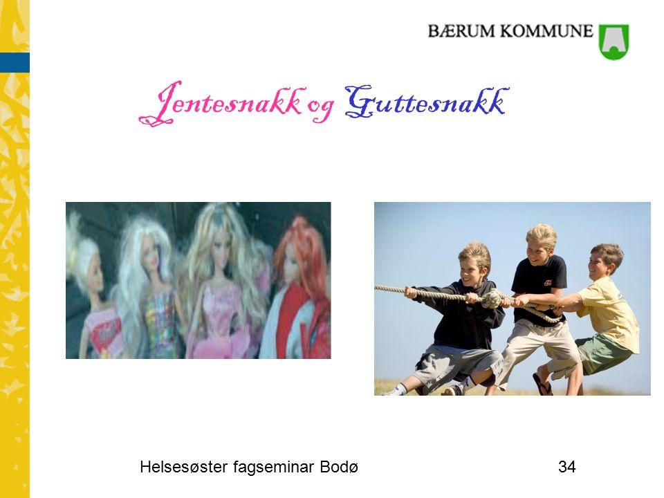 Jentesnakk og Guttesnakk Helsesøster fagseminar Bodø34