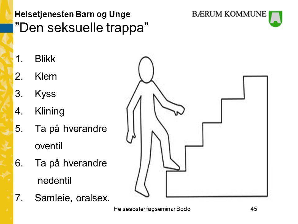 Helsetjenesten Barn og Unge Den seksuelle trappa 1.