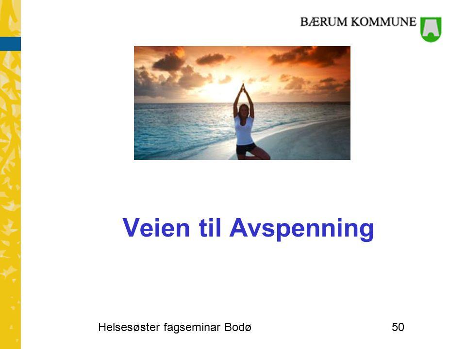 Veien til Avspenning Helsesøster fagseminar Bodø50