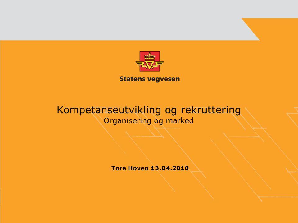 Kompetanseutvikling og rekruttering Organisering og marked Tore Hoven 13.04.2010