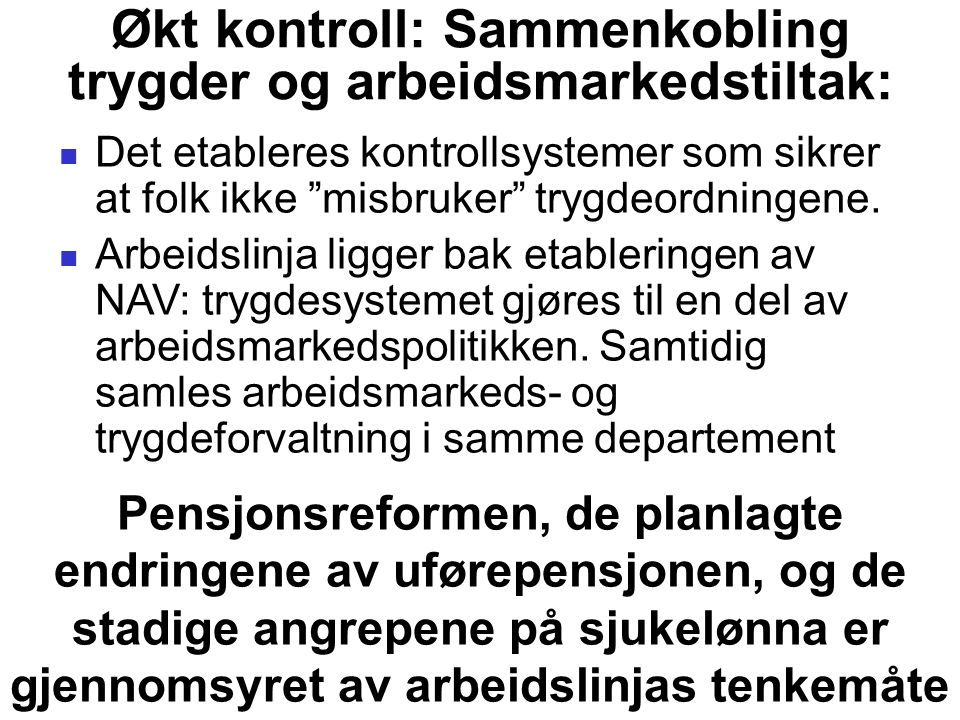 Blir ikke-vestlige innvandrere oftere uføre enn etnisk norske.