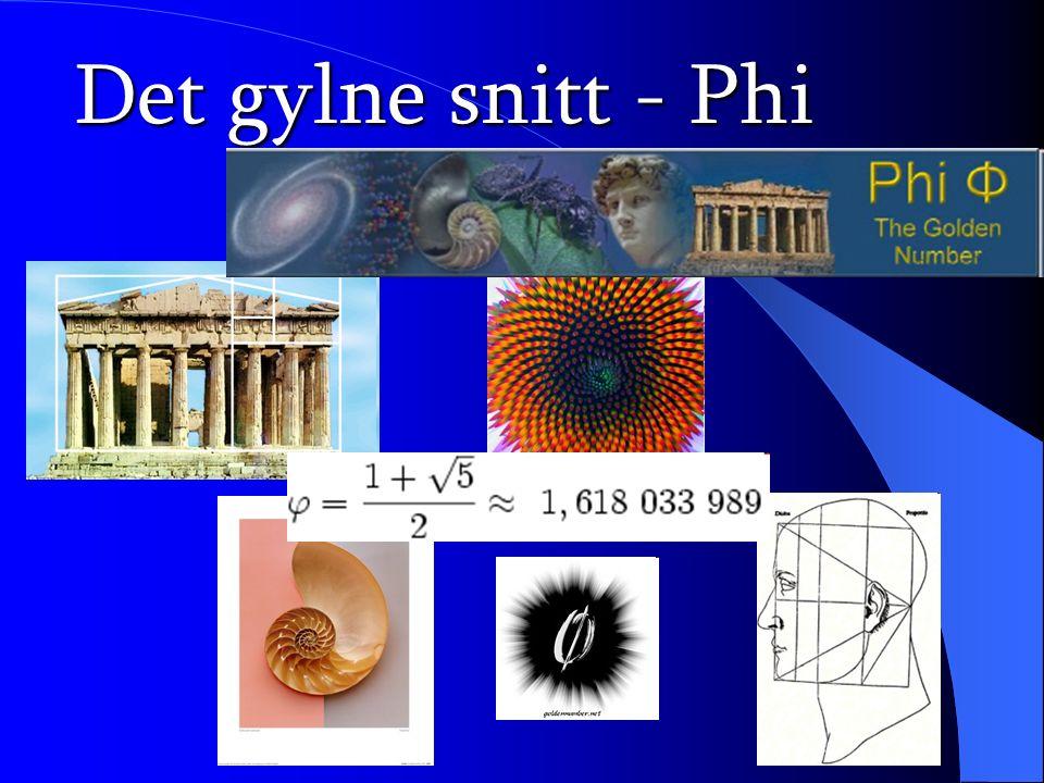Det gylne snitt - Phi