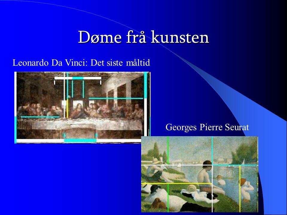 Døme frå kunsten Leonardo Da Vinci: Det siste måltid Georges Pierre Seurat