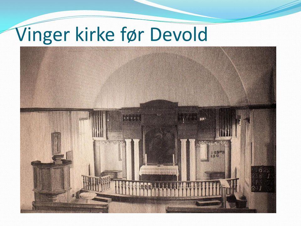 Vinger kirke før Devold