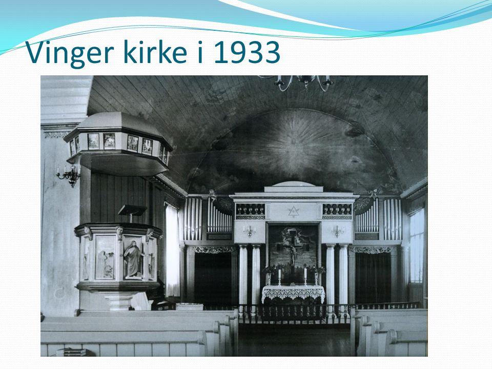 Vinger kirke i 1933