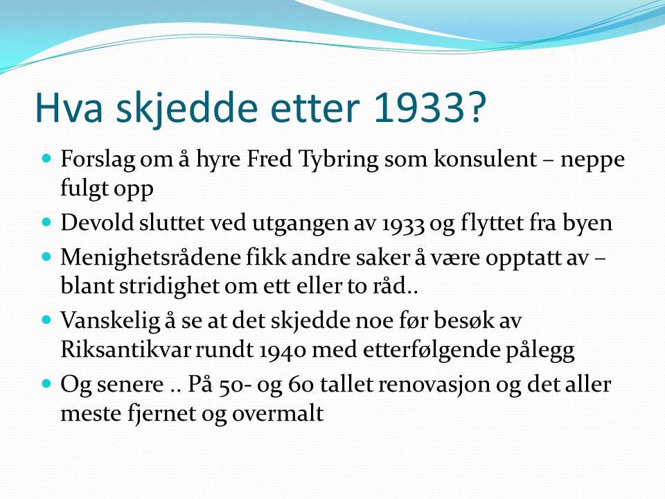 Hva skjedde etter 1933.