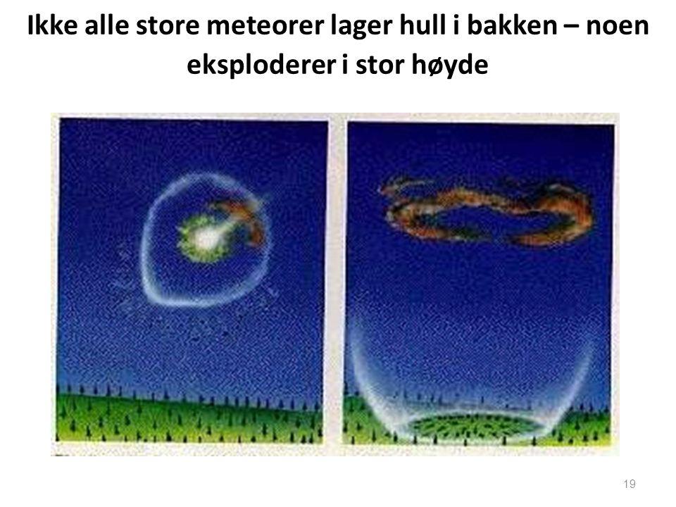 19 Ikke alle store meteorer lager hull i bakken – noen eksploderer i stor høyde