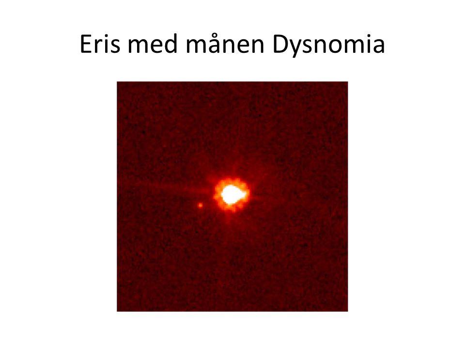 Eris med månen Dysnomia