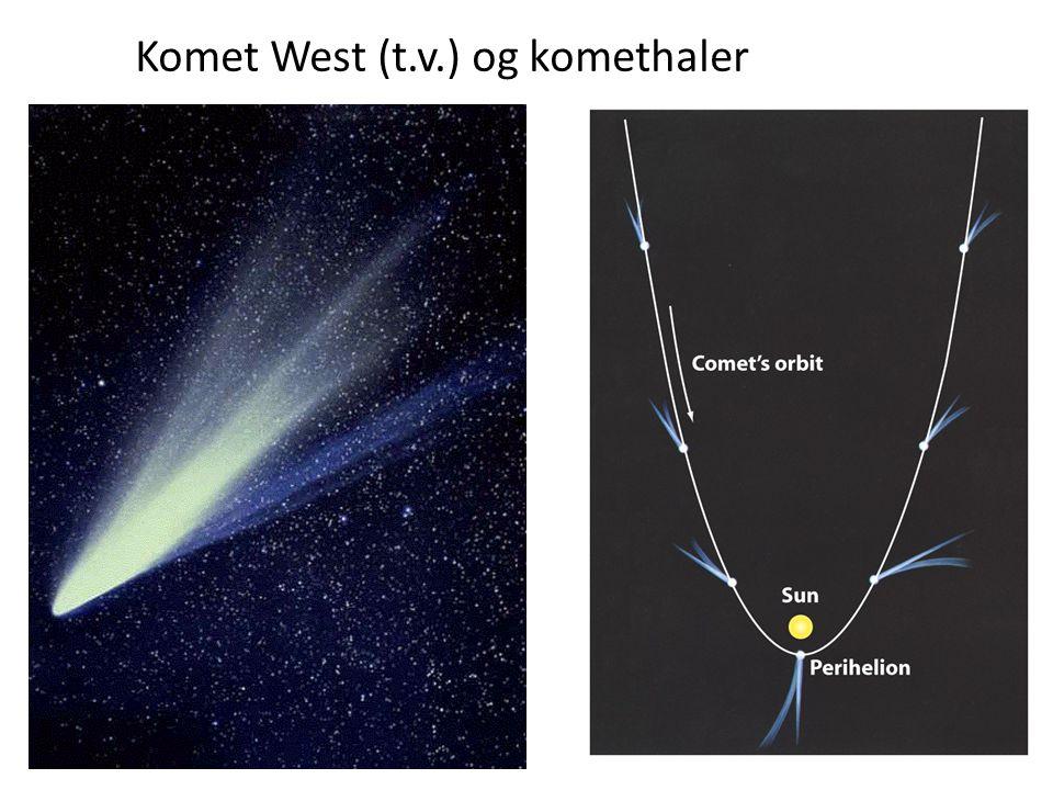 34 Komet West (t.v.) og komethaler