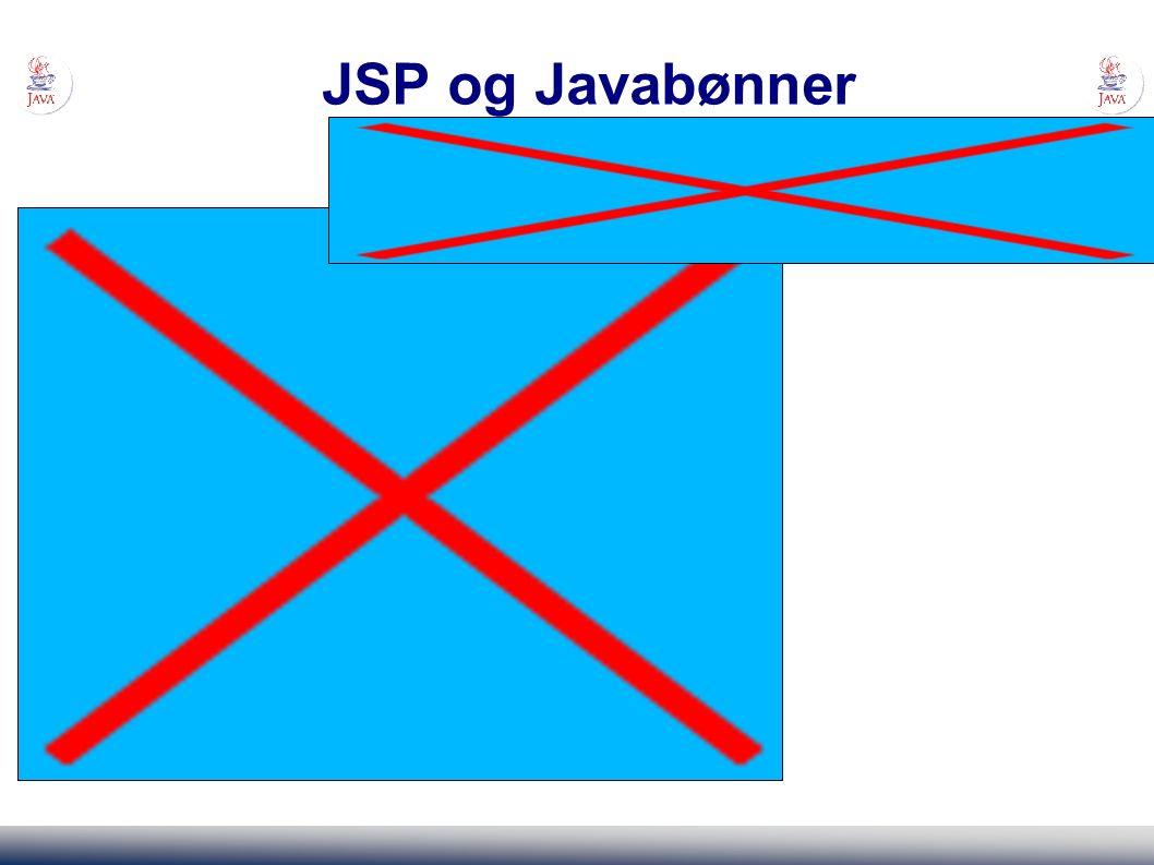 JSP og Javabønner