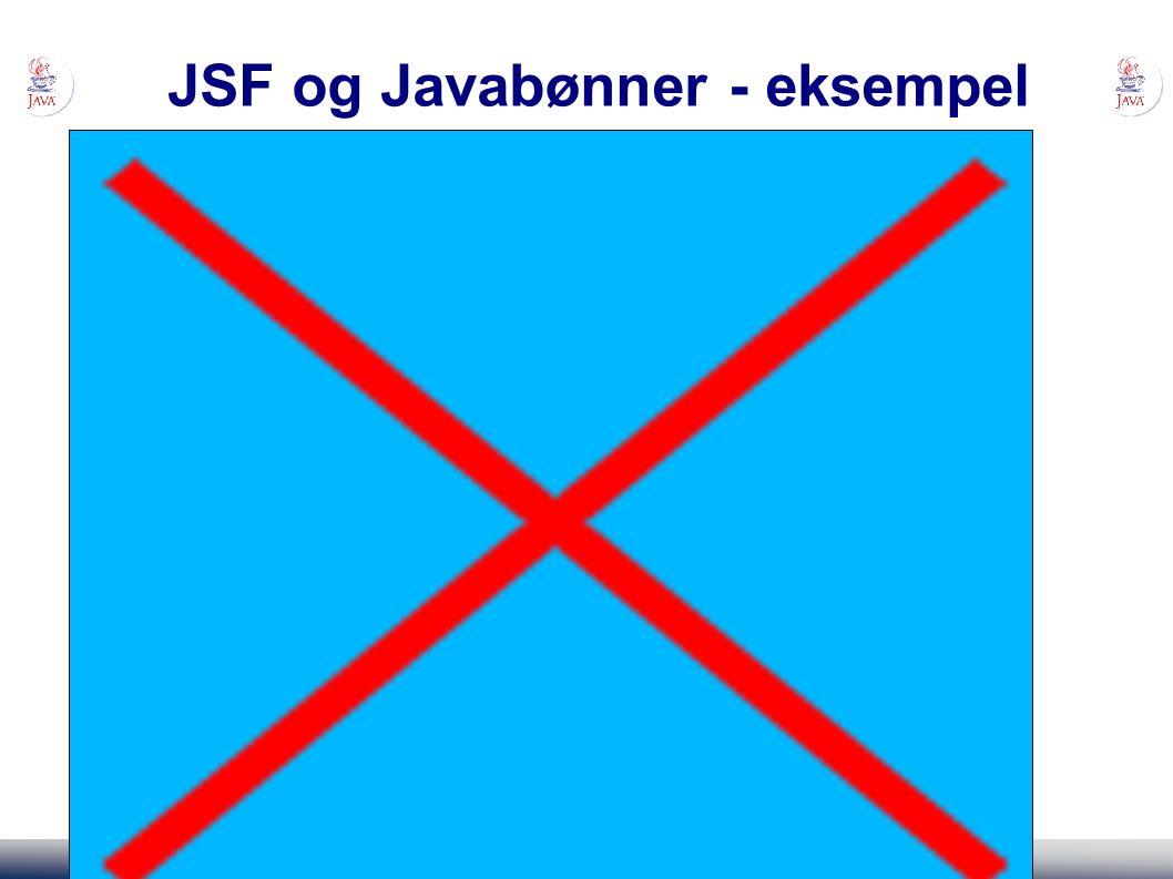 JSF og Javabønner - eksempel