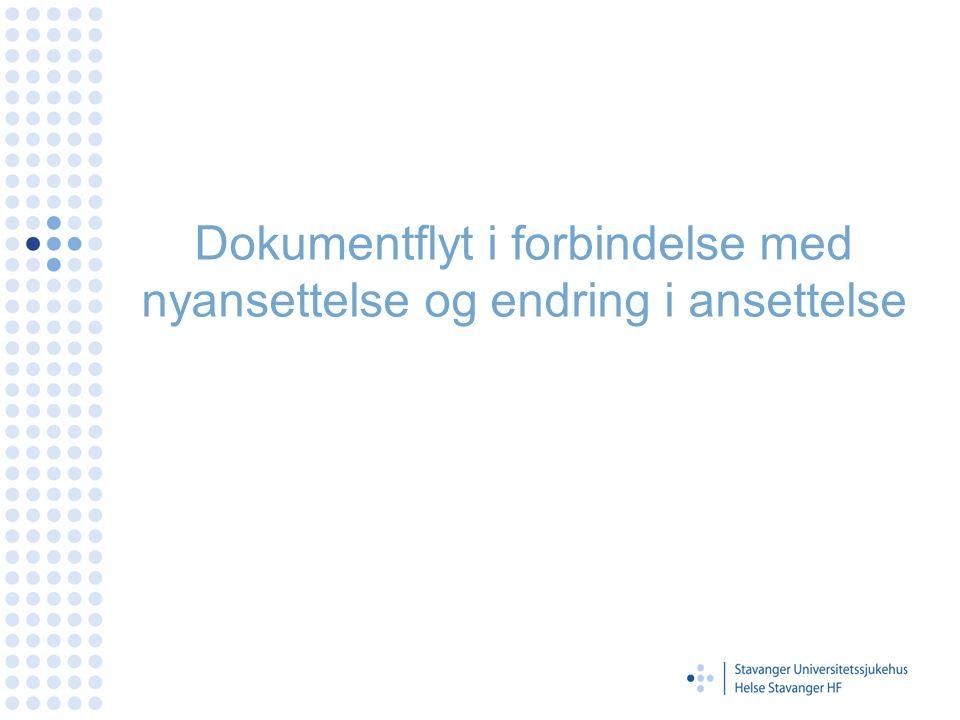 Dokumentflyt i forbindelse med nyansettelse og endring i ansettelse