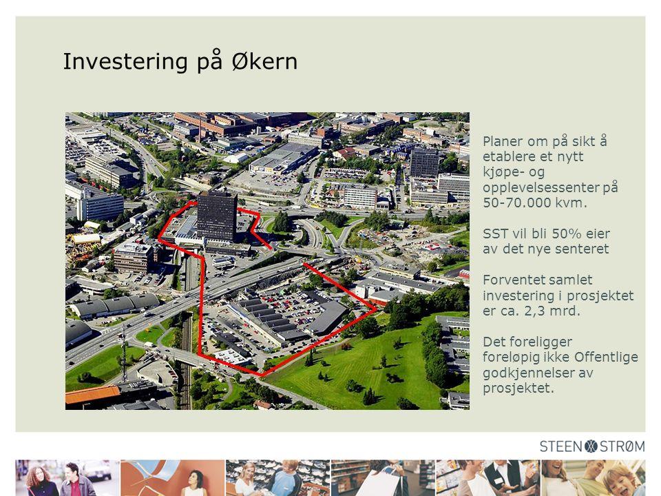 Investering på Økern Planer om på sikt å etablere et nytt kjøpe- og opplevelsessenter på 50-70.000 kvm.
