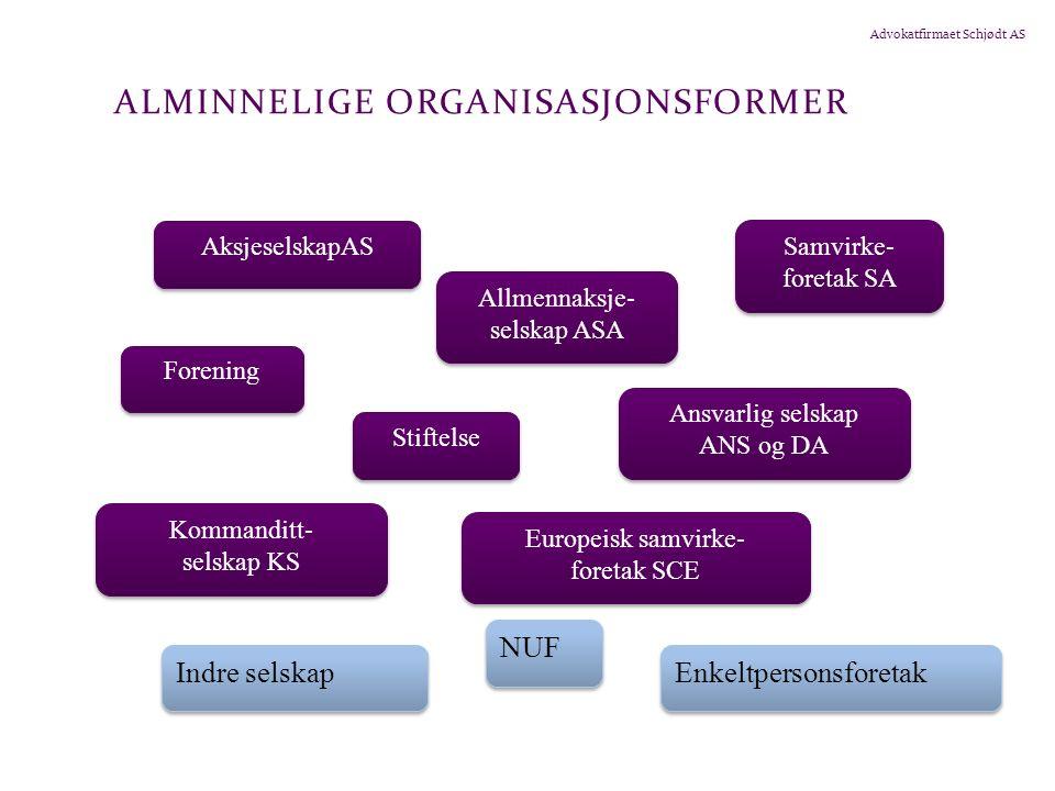 Advokatfirmaet Schjødt AS 5.1.4 AKSJESELSKAP (FORTS.) Som ikke er særskilt unntatt ved lov Unntak i aksjeloven, jf.