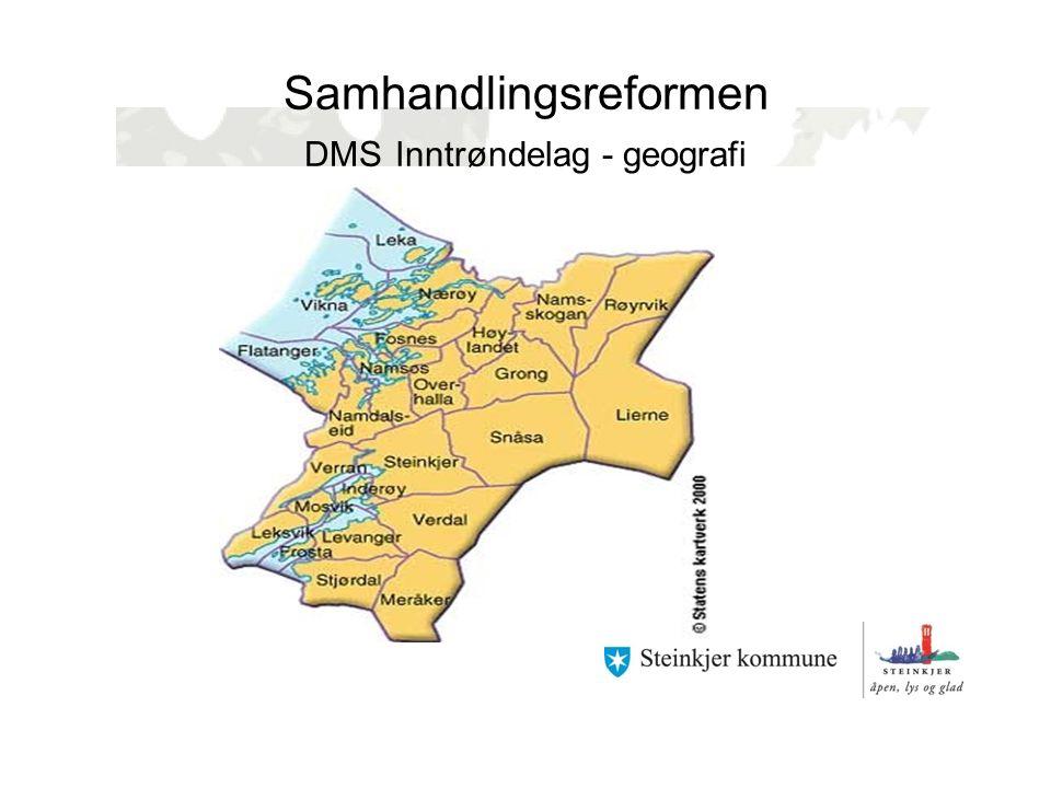 Samhandlingsreformen DMS Inntrøndelag - geografi