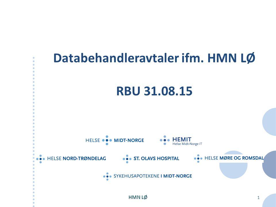 Databehandleravtaler ifm. HMN LØ RBU 31.08.15 HMN LØ 1