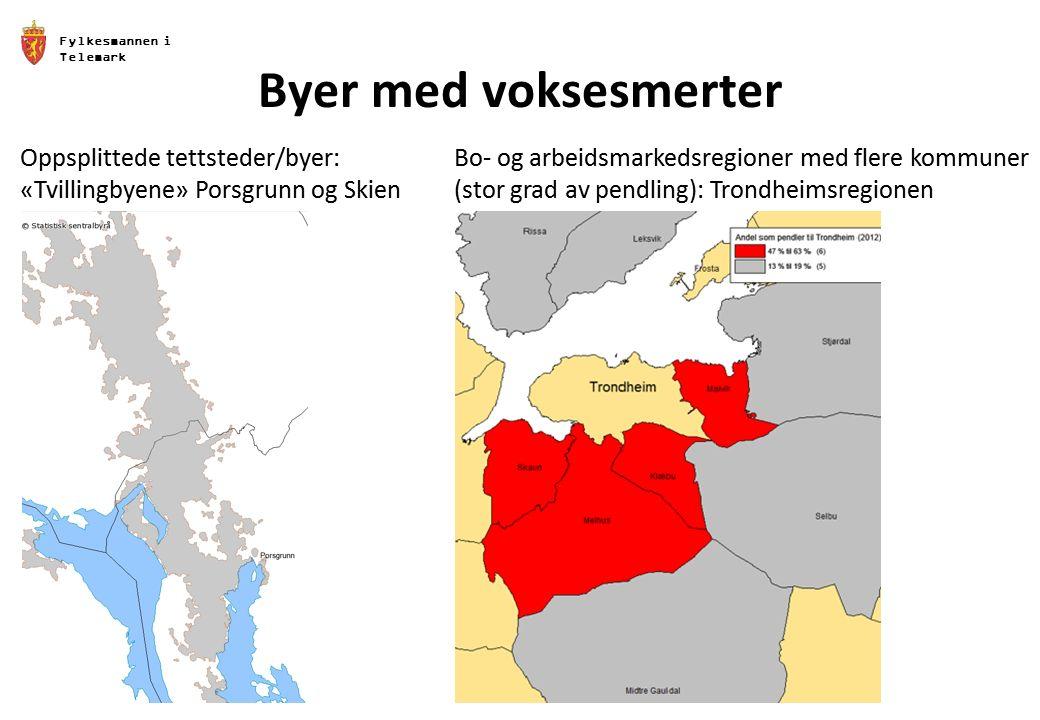 Fylkesmannen i Telemark Byer med voksesmerter