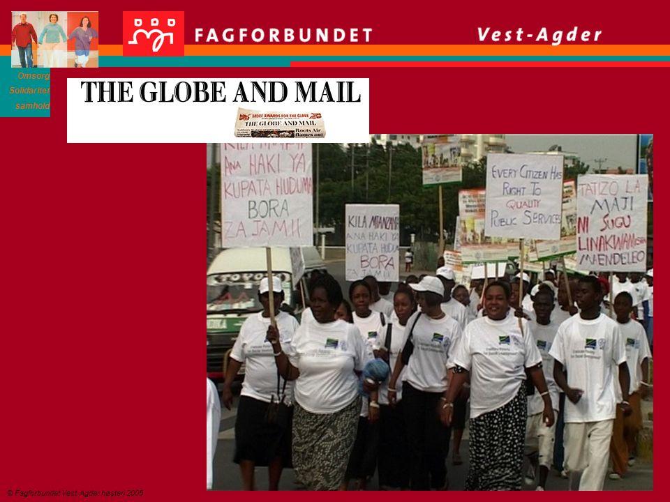 Omsorg Solidaritet samhold © Fagforbundet Vest-Agder høsten 2005