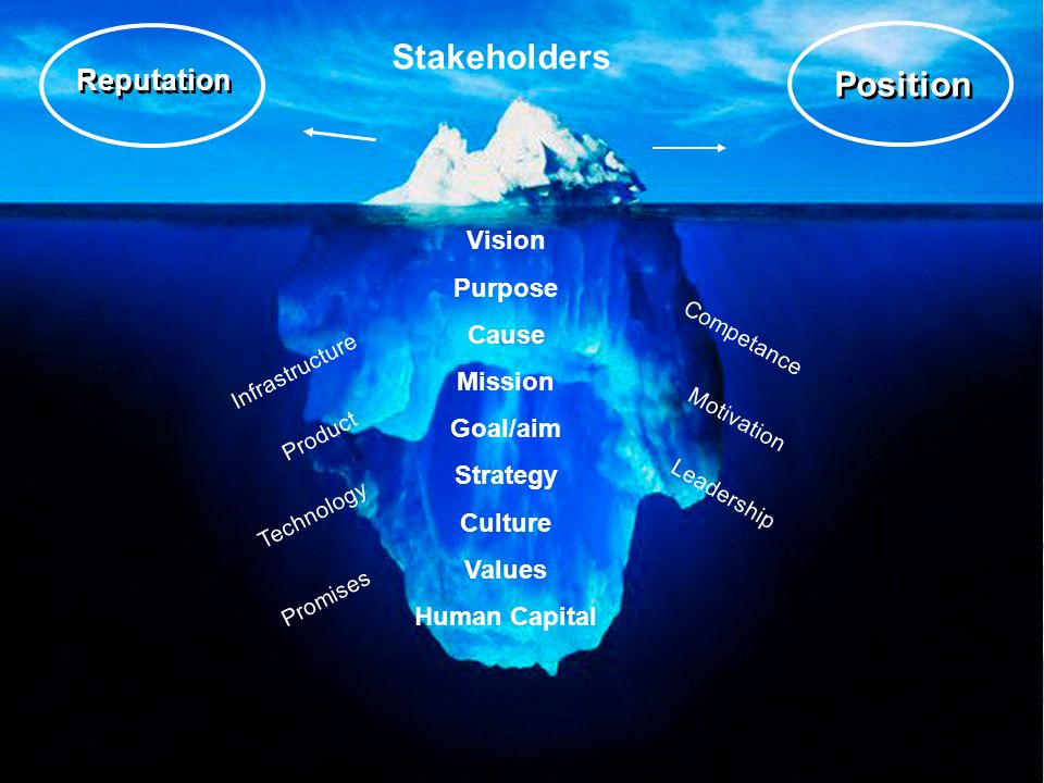 12 Vision Purpose Cause Mission Goal/aim Strategy Culture Values Human Capital Competance Position Motivation Leadership Stakeholders Technology Product Infrastructure Reputation Promises
