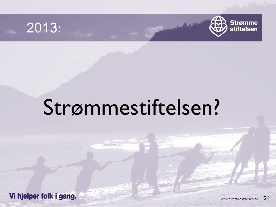 www.strommestiftelsen.no 24 Strømmestiftelsen 2013 :