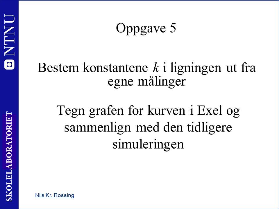 24 SKOLELABORATORIET Bestem konstantene k i ligningen ut fra egne målinger Nils Kr.