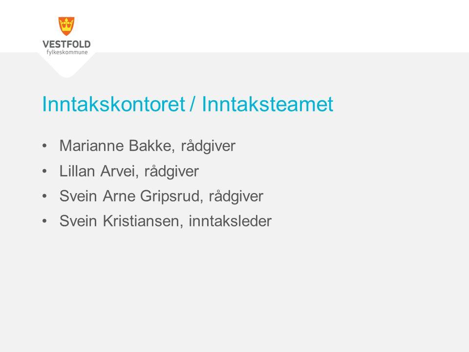 Marianne Bakke, rådgiver Lillan Arvei, rådgiver Svein Arne Gripsrud, rådgiver Svein Kristiansen, inntaksleder Inntakskontoret / Inntaksteamet