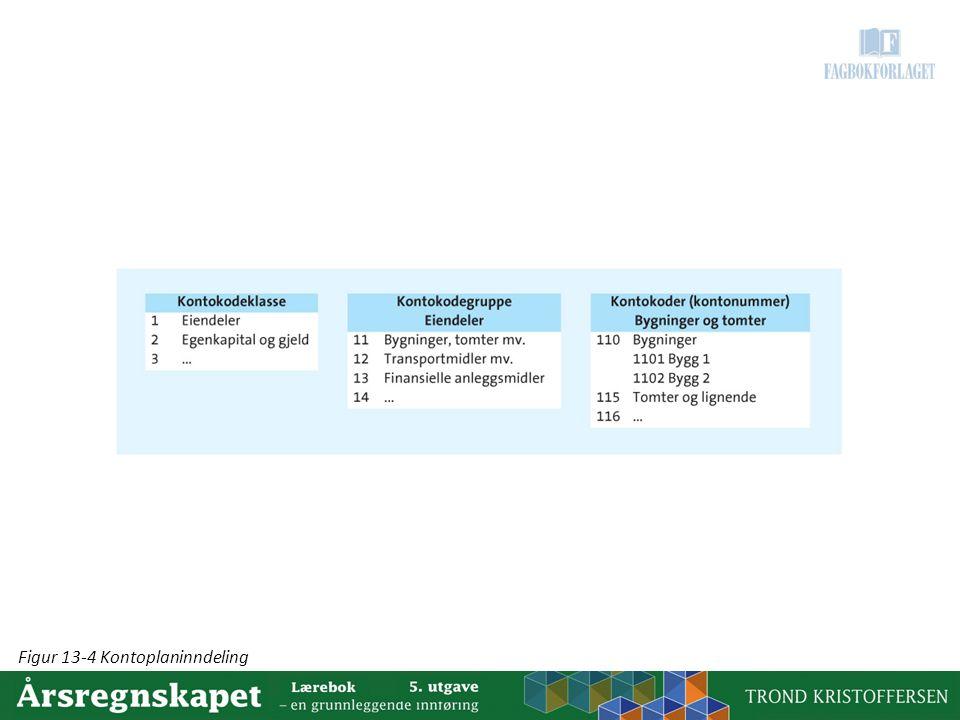 Figur 13-4 Kontoplaninndeling