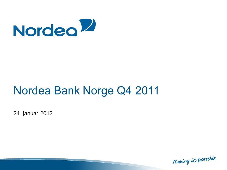 Nordea Bank Norge Q4 2011 24. januar 2012