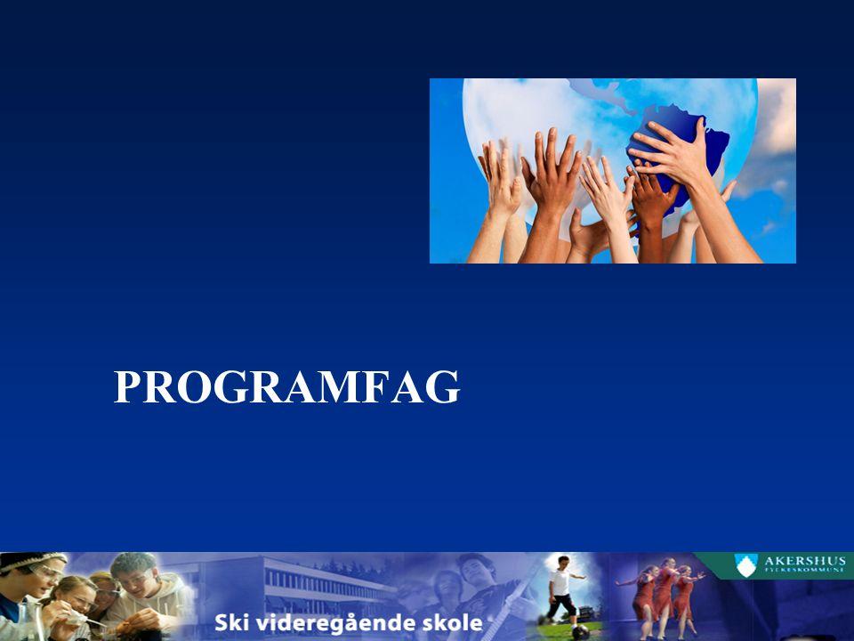 MUSIKK, DANS, DRAMA 5 TIMER VALGFRITT PROGRAMFAG På Vg3 kan elevene velge: fordypning innenfor eget programområde (musikk, dans eller drama) fordypning i matematikk fordypning i fremmedspråk NB.