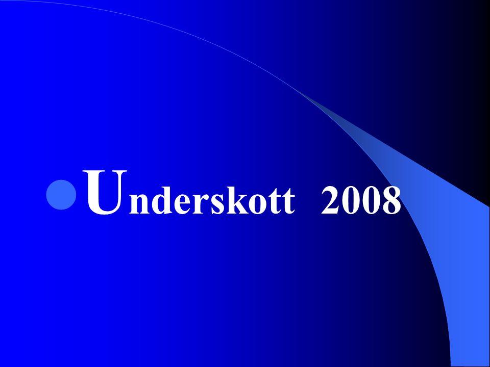 U nderskott 2008