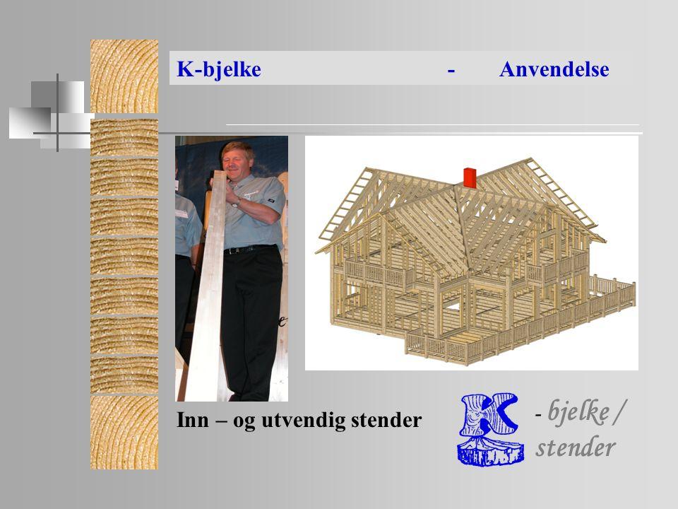 Inn – og utvendig stender K-bjelke- Anvendelse - bjelke / stender