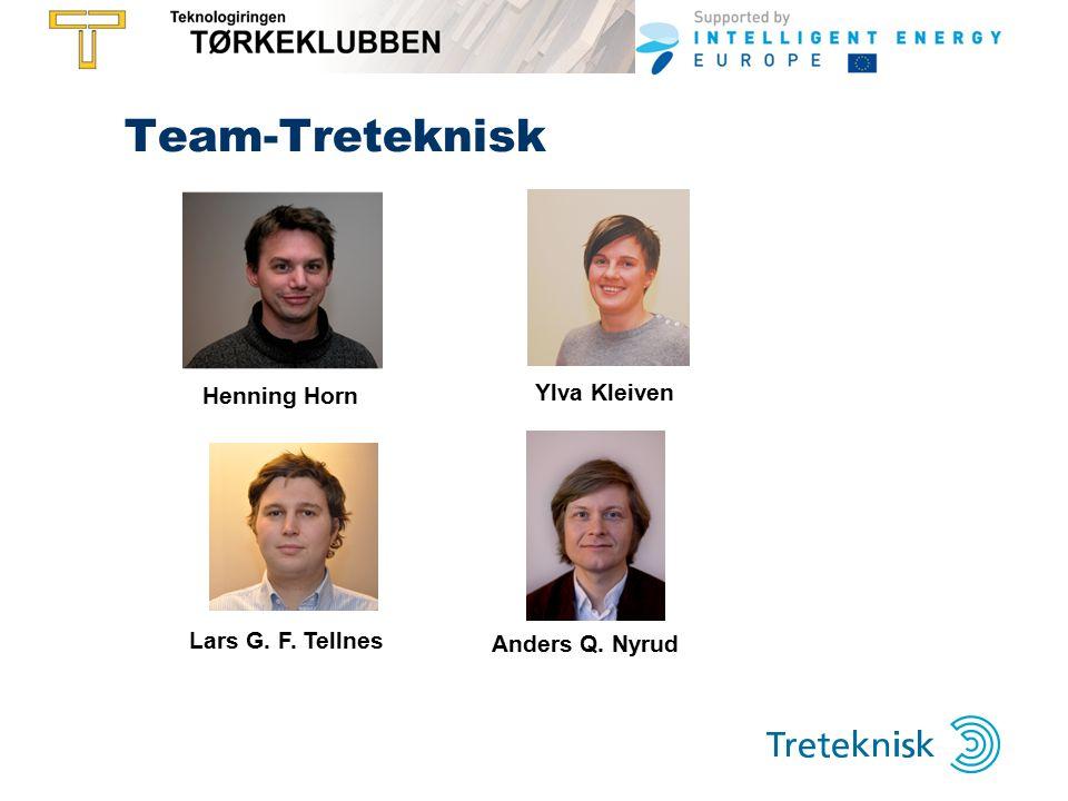 Team-Treteknisk Henning Horn Ylva Kleiven Lars G. F. Tellnes Anders Q. Nyrud