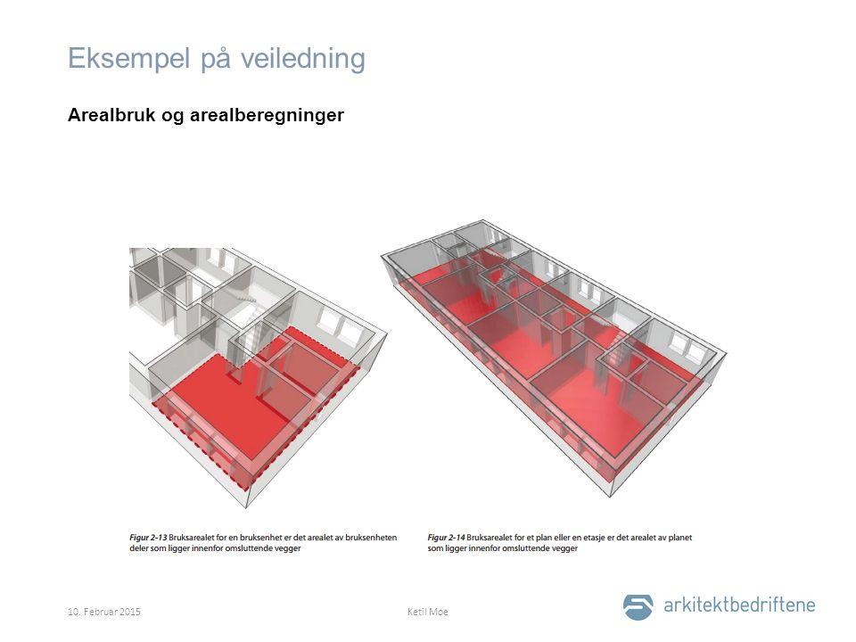 Eksempel på veiledning Arealbruk og arealberegninger 10. Februar 2015Ketil Moe
