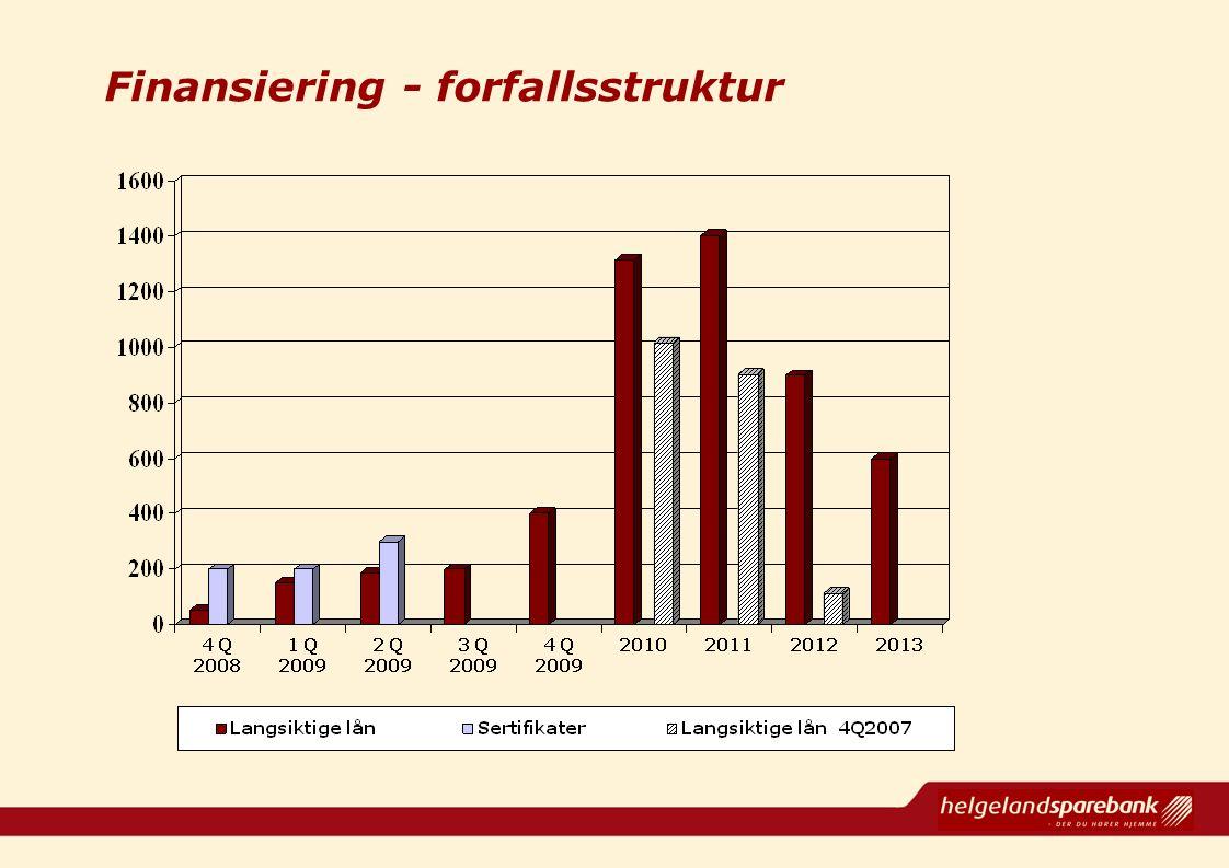 Finansiering - forfallsstruktur