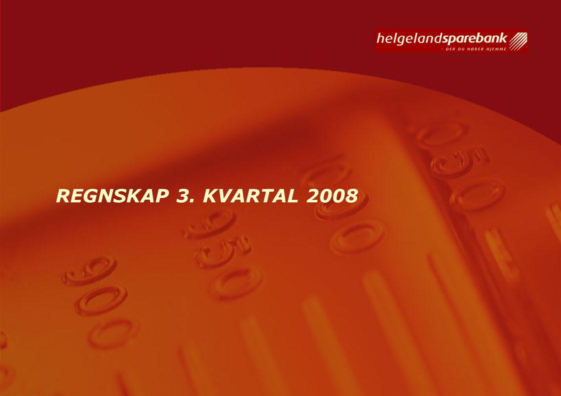 REGNSKAP 3. KVARTAL 2008
