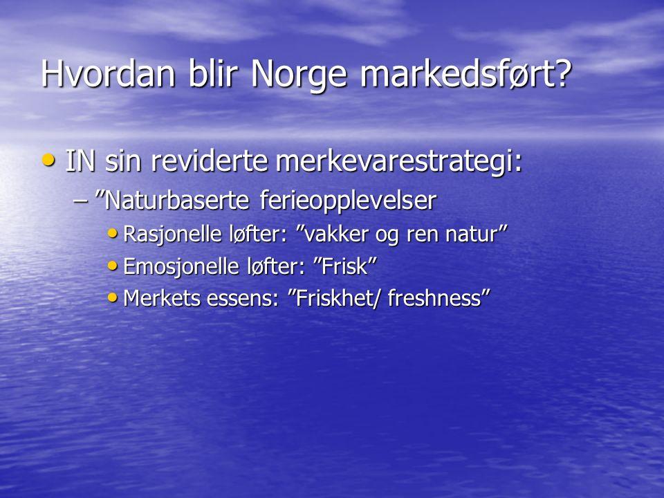 Hvordan blir Norge markedsført.